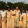 Olivier Jadin Administrateur de programme APEFE et les membres du Ministère de la Santé burundais à l'occasion du Cinquantenaire de l'indépendance à Bujumbura